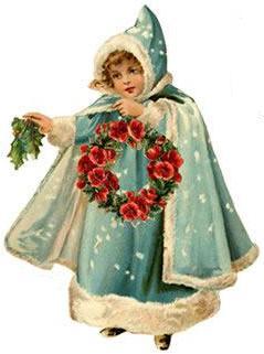 Blue wreath girl